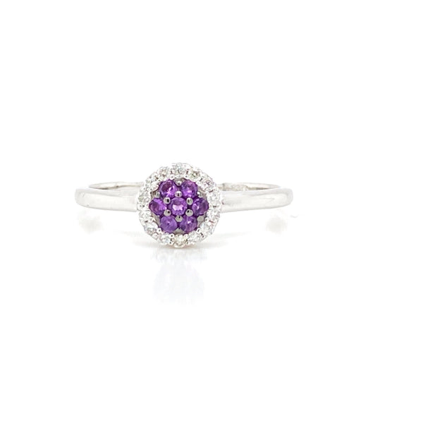 Pave Amethyst & Diamond Ring