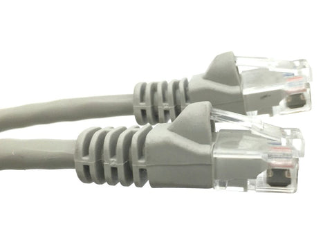 100 Ft CAT6 Ethernet Patch Cable, STP, Booted, Gray