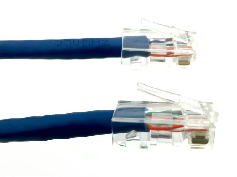 25 Ft CAT5E Ethernet Patch Cable, Non-Booted, Blue