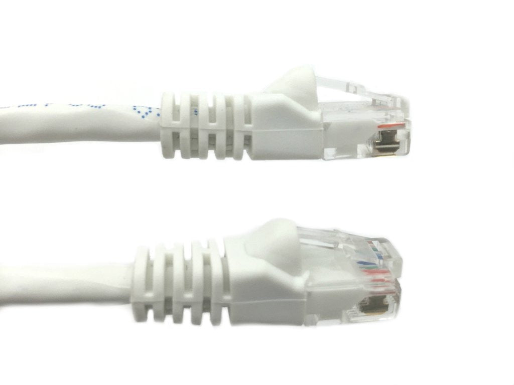 3 Ft CAT5E Ethernet Patch Cable, UTP, Booted, White