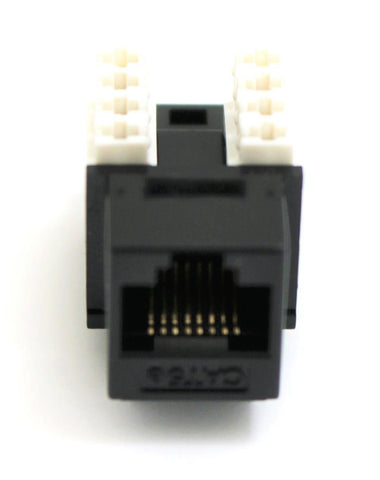 CAT5E Keystone Jack RJ45, 110 Punch Down - Black