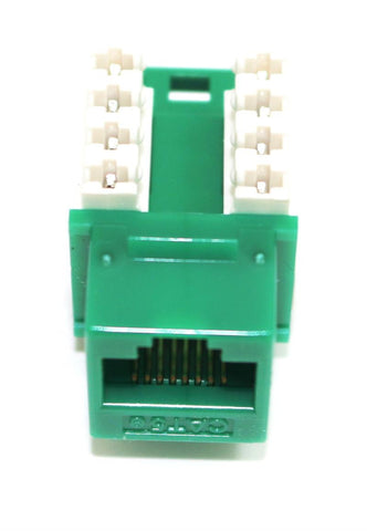 CAT5E Keystone Jack RJ45, 110 Punch Down - Green