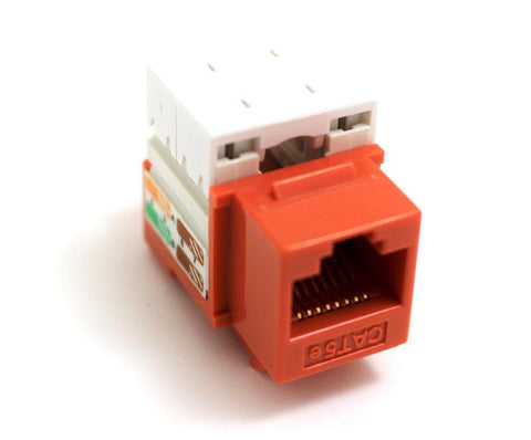 CAT6 Keystone Jack RJ45, 110 Punch Down - Orange