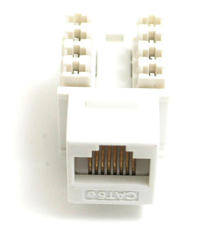 CAT5E Keystone Jack RJ45, 110 Punch Down - White