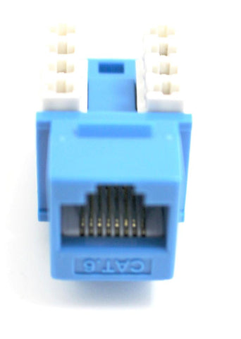 CAT6 Keystone Jack RJ45, 110 Punch Down - Blue