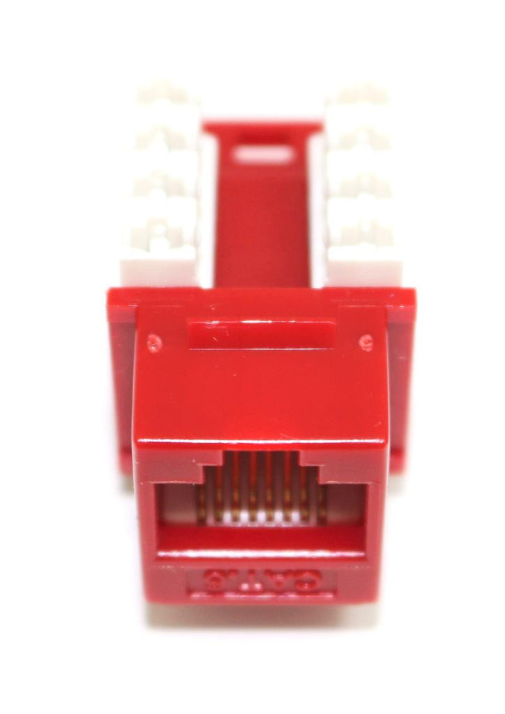 CAT6 Keystone Jack RJ45, 110 Punch Down - Red
