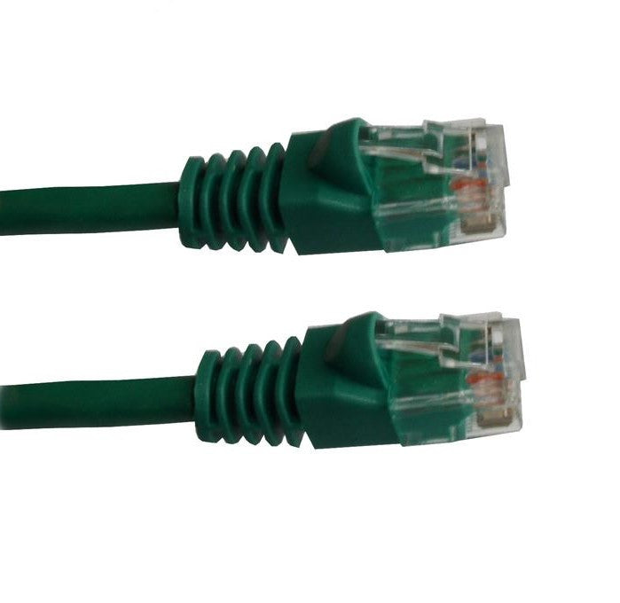 7 Ft CAT5E Ethernet Patch Cable, UTP, Booted, Green