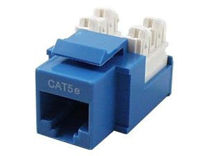 CAT5E Keystone Jack RJ45, 110 Punch Down - Blue