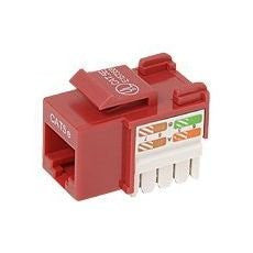CAT5E Keystone Jack RJ45, 110 Punch Down - Red