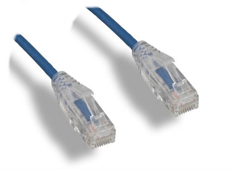 Slim CAT6 Blue Cables