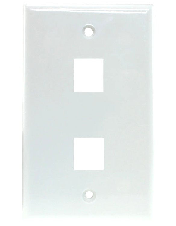 2 Port Keystone Jack Wall Plate
