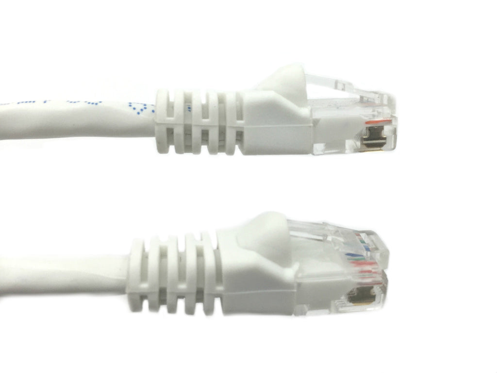75 Ft CAT6 Ethernet Patch Cable, UTP, Booted, White