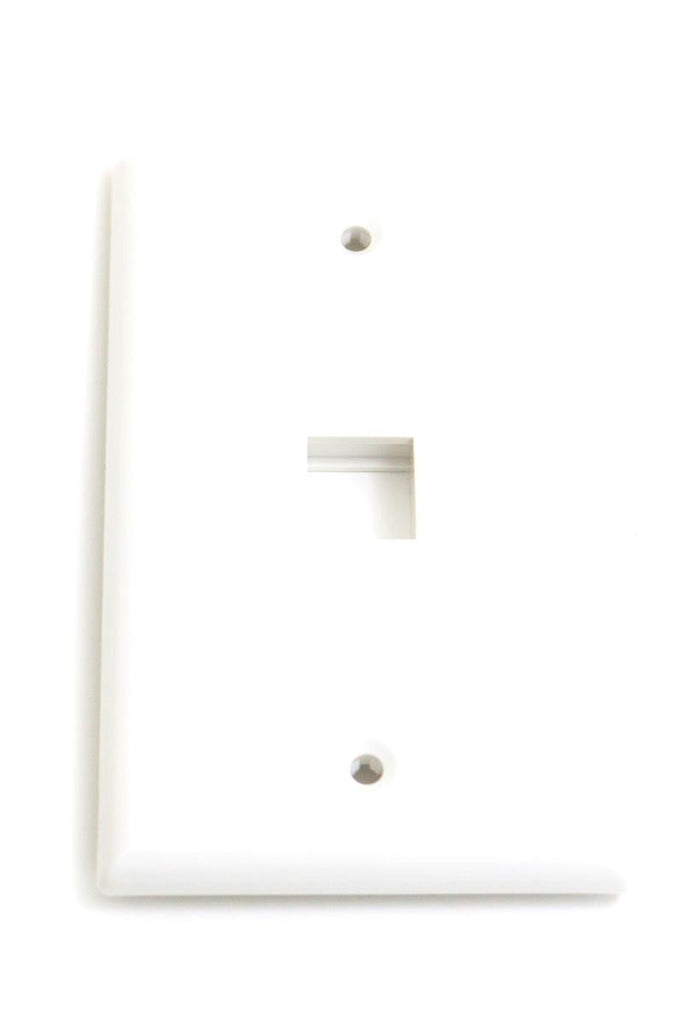 Wall Plate For Keystone Insert- 1 Hole - White