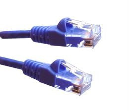 1 Ft CAT5E Ethernet Patch Cable, UTP, Booted, Purple