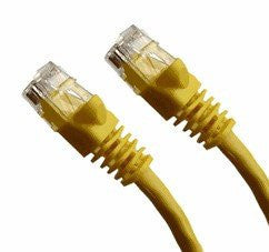 100 Ft CAT6 Ethernet Patch Cable, UTP, Booted, Yellow