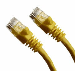 100 Ft CAT5E Ethernet Patch Cable, UTP, Booted, Yellow