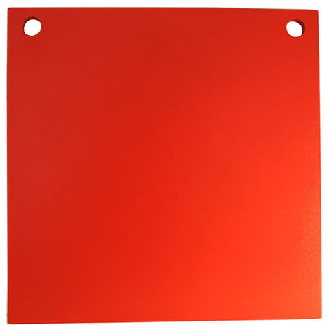 "Steel Target 8"" AR500 3/8"" Thick Two Hole Square Gong"
