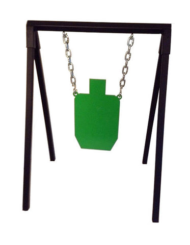 "Steel Target A-Frame Stand Combo - AR500 3/8"" Thick IPSC Half Scale Torso"