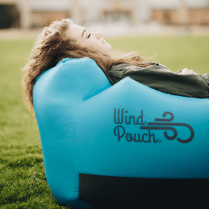 WindPouch Pop Up Headrest Inflatable Ground Hammock Blow Up Seat Air Lounger Inflatable Couch