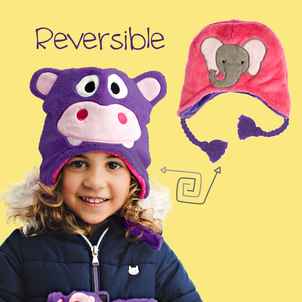 Reversible Kids Winter Hats