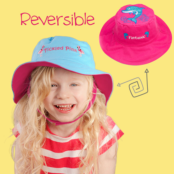 Reversible Kids & Baby Sun Hats