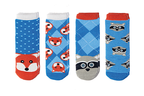 Cabin Socks - Fox | Raccoon