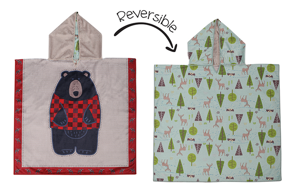 Reversible Kids Cover Up - Black Bear | Cottage