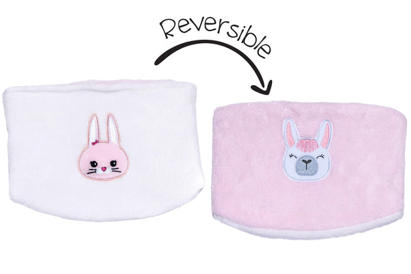 Kids Reversible Neck Warmer - Llama & Bunny