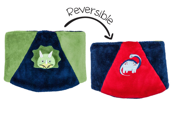 Kids Reversible Neck Warmer - Dinosaurs
