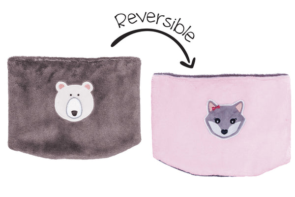 Kids Reversible Neck Warmer - Polar Bear & Arctic Fox