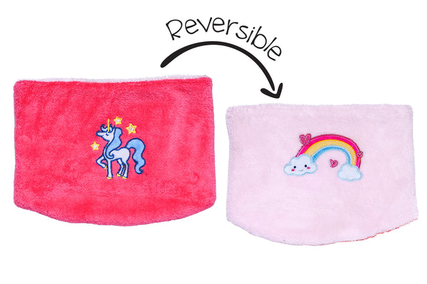 Kids Reversible Neck Warmers - Unicorn & Rainbow