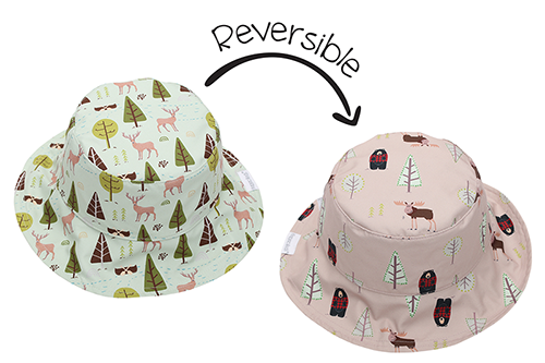 Reversible Kids Patterned Sun Hat - Moose | Cottage