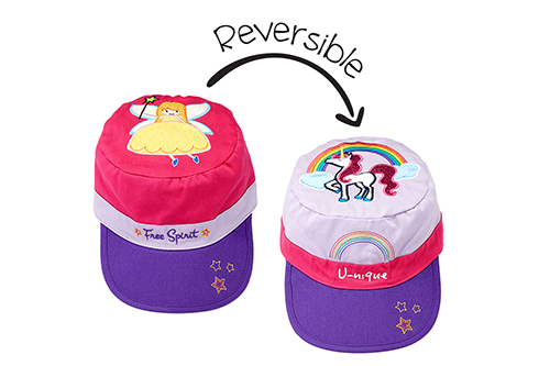 Reversible Kids Cap - Fairy / Unicorn
