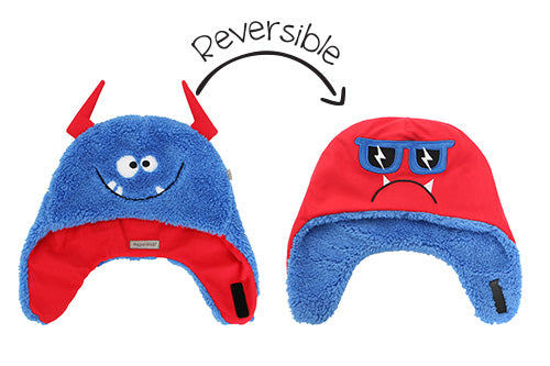 Kids & Baby Reversible Sherpa Hat - Monsters