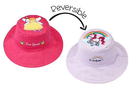 Reversible Kids & Toddler Sun Hat - Fairy & Unicorn