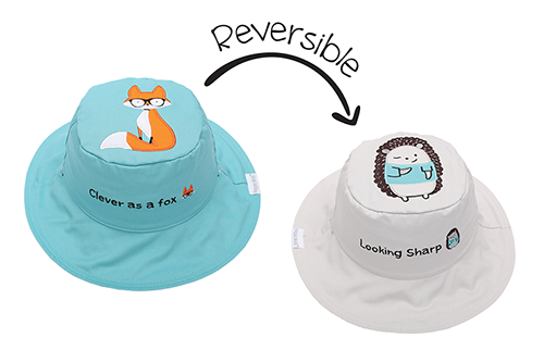 Reversible Baby and Kids Sun Hat - Fox | Hedgehog