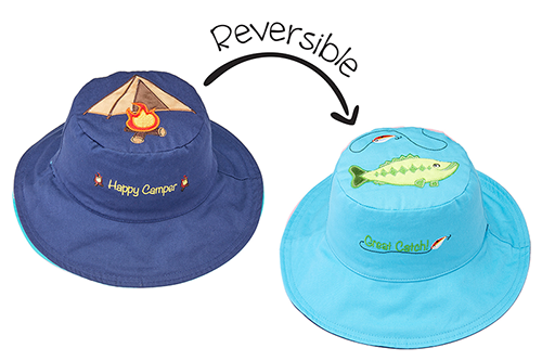 Reversible Kids & Toddler Sun Hat - Tent & Bass