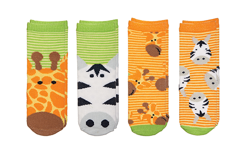 Sock Safari - Giraffe | Zebra (Green)