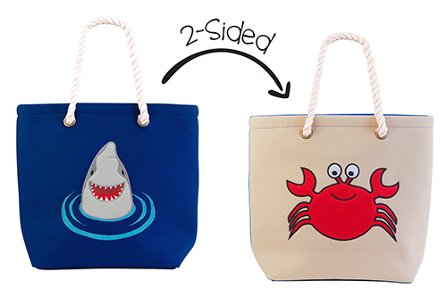 2-Sided Tote - Shark | Crab