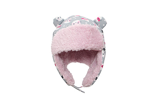 Kids & Baby Water Repellent Trapper Hat - Cat (Grey)