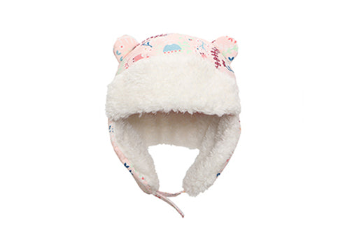 Kids & Baby Water Repellent Trapper Hat - Floral
