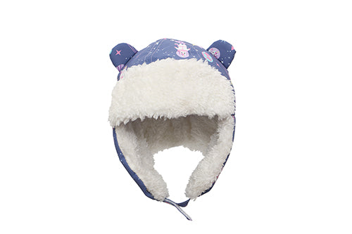 Kids & Baby Water Repellent Trapper Hat - Unicorn (Indigo)