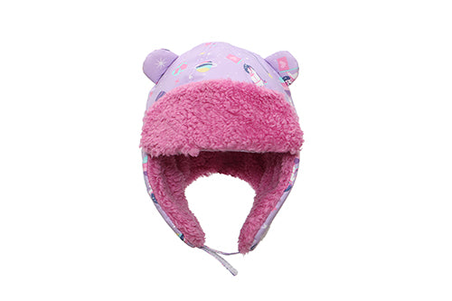 Kids & Baby Water Repellent Trapper Hat - Unicorn (Lilac)