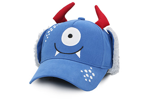 Kids 3D Winter Cap with Ear Flaps - Monster