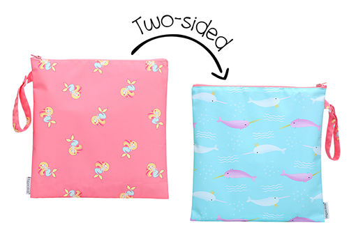 2-Sided Kids Wet Bag - Mermaid | Narwhal
