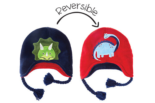 Kids & Baby Reversible Winter Hat - Dinosaurs