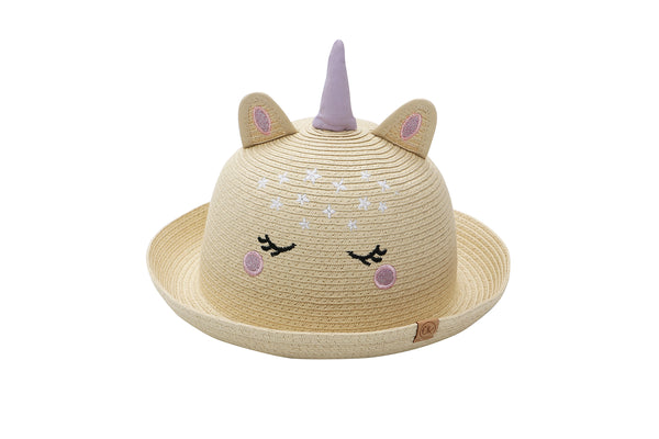 Kids Straw Hat - Unicorn