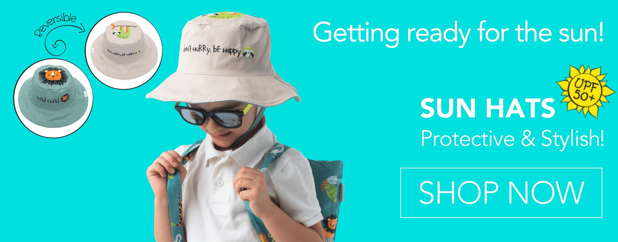 2019 Reversible Kids Sun Hats. Shop Now!