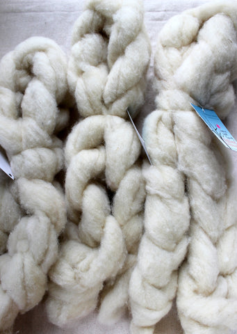 Maine Wool Roving, 4oz