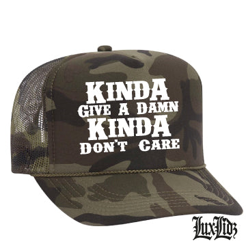 Kinda Give a DAMN Camo Hat